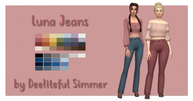 Sims 4 Luna jeans at Deeliteful Simmer