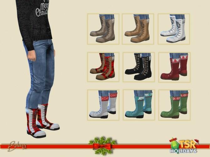 Sims 4 Holiday Wonderland Christmas boots M by Birba32 at TSR