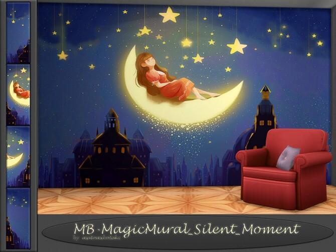 Sims 4 MB Magic Mural Silent Moment by matomibotaki at TSR