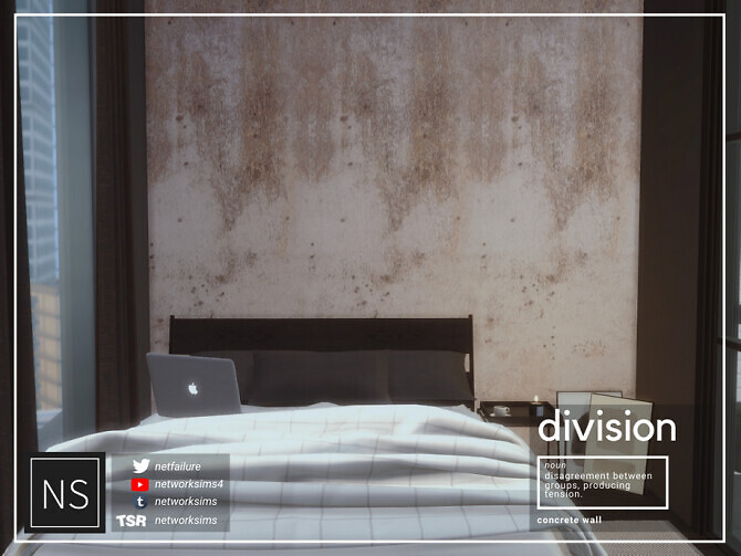 Sims 4 Division Concrete Walls by Networksims at TSR