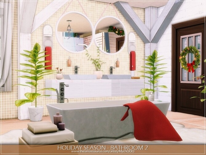 Sims 4 Holiday Season Bathroom 2 by MychQQQ at TSR