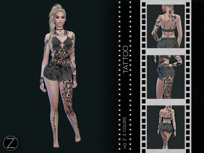 Sims 4 TATTOO Z03 by ZENX at TSR