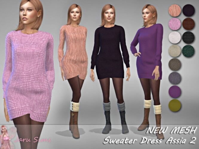 Sweater Dress Assia 2 by Jaru Sims