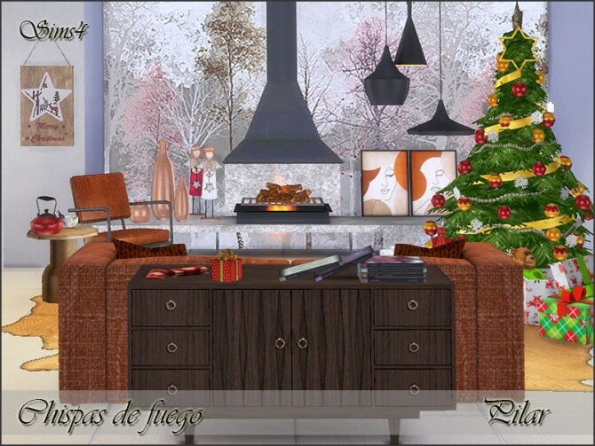 Holiday Wonderland Sparks of fire by Pilar