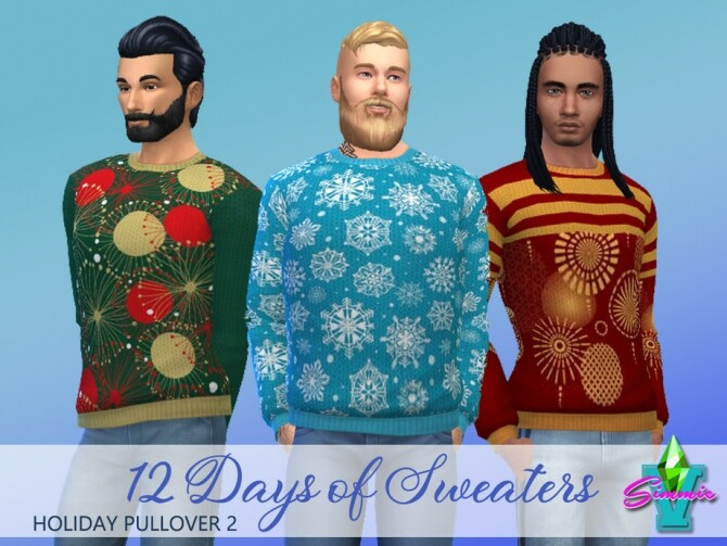 Sims 4 Holiday Pullover 2 by SimmieV at TSR