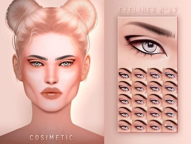 Sims 4 Eyeliner N17 by cosimetic at TSR