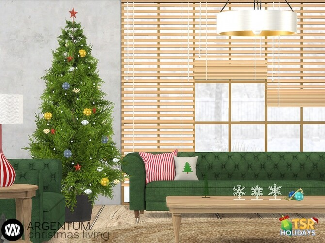 Sims 4 Argentum Christmas Living Decorations by wondymoon at TSR