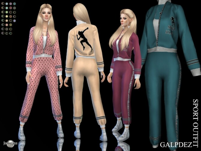 Sims 4 Galpdez sport outfit by  jomsims at TSR