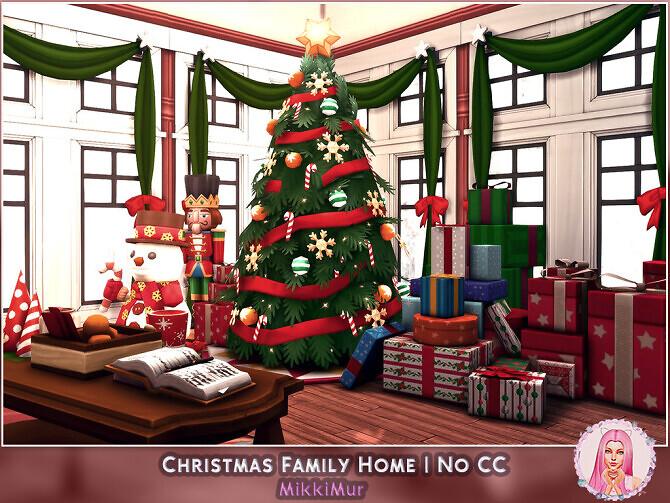 Sims 4 Christmas Family Home at MikkiMur