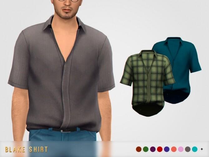Sims 4 Blake Shirt by pixelette at TSR