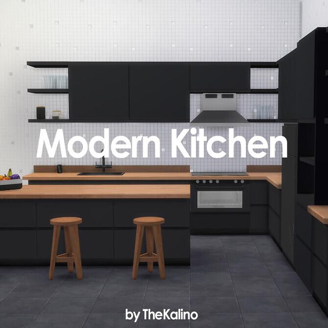 Sims 4 Modern Kitchen Set at Kalino