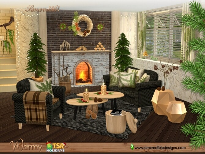 Holiday Wonderland Warmy living room by SIMcredible