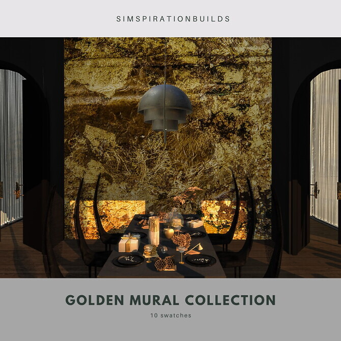 Sims 4 Golden Mural Collection at Simspiration Builds