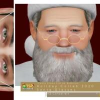 Holiday Wonderland Santa Glasses by DarkNighTt