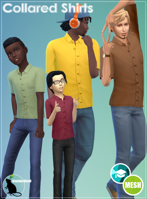 Sims 4 Collared Shirts at Standardheld