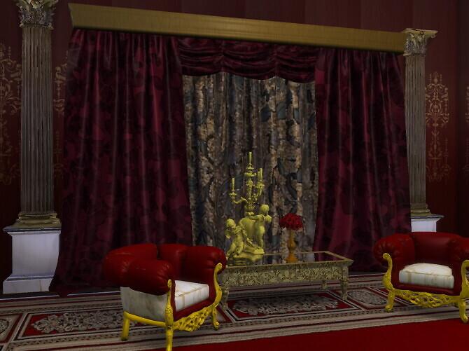 Sims 4 Sofa, ArmChair, Curtains Panel & Sweet Rollito at Anna Quinn Stories