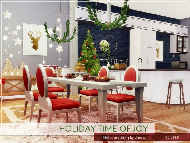 Holiday Time of Joy Kitchen and Dining by Lhonna