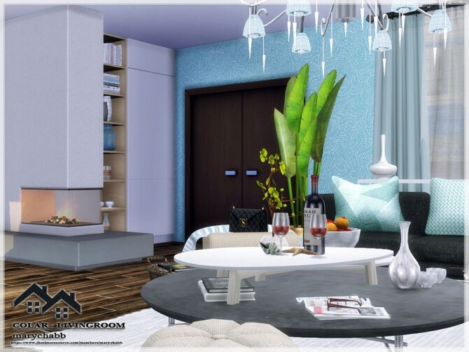 Sims 4 COLAR Livingroom by marychabb at TSR