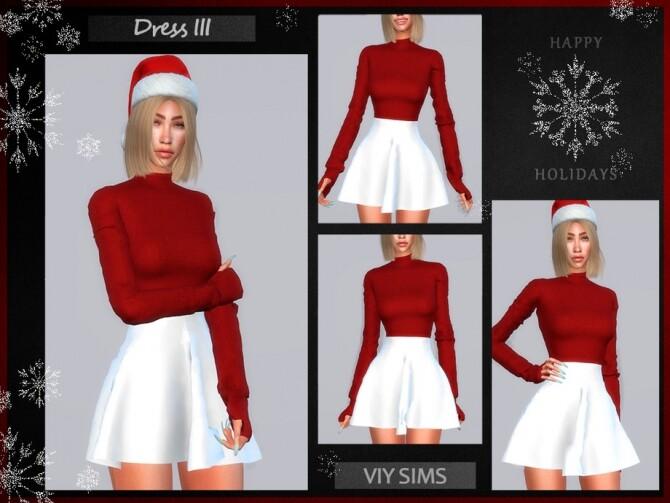 Sims 4 Dress III Christmas VI by Viy Sims at TSR