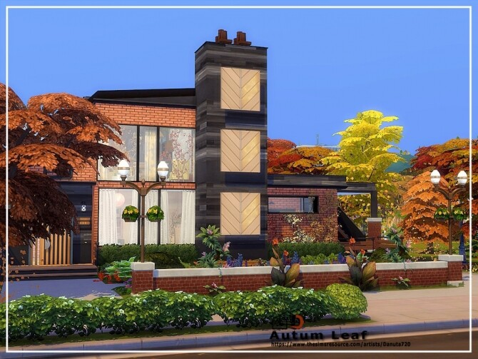 Sims 4 Autumn leaf house by Danuta720 at TSR