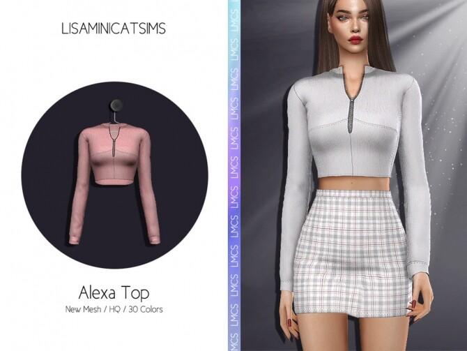 Sims 4 LMCS Alexa Top by Lisaminicatsims at TSR