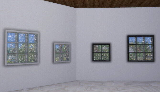 Sims 4 Glass block windows by pocci at Garden Breeze Sims 4