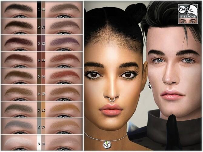 Sims 4 Eyebrows 17 by BAkalia at TSR