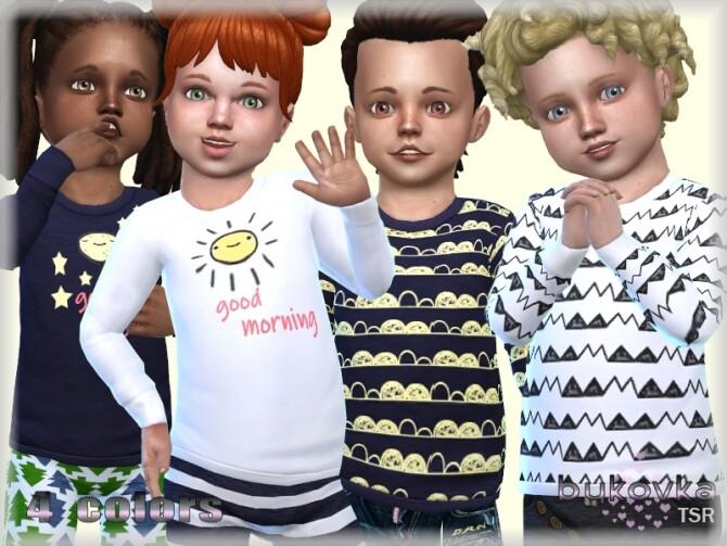 Sims 4 Shirt Morning & Night by bukovka at TSR