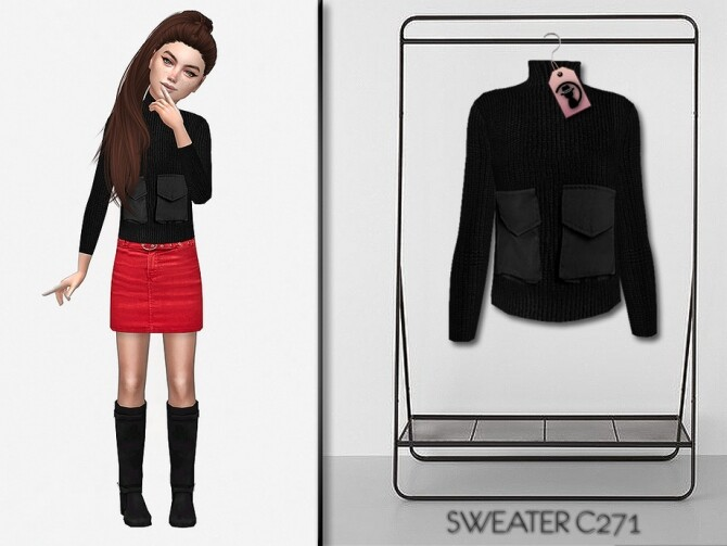 Sims 4 Sweater C271 by turksimmer at TSR