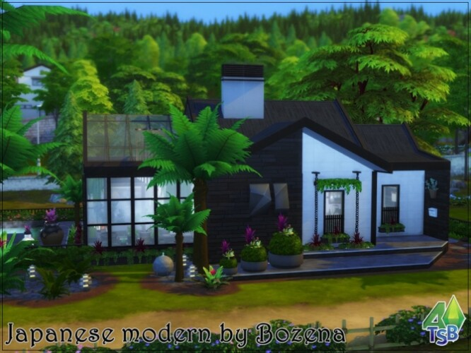 Japanese modern house by bozena
