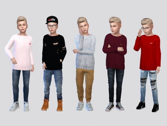 Sims 4 Sivan Sweater Boys by McLayneSims at TSR