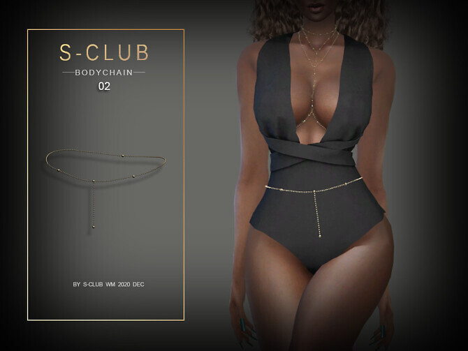 Sims 4 Bodychain 202002 by S Club WM at TSR