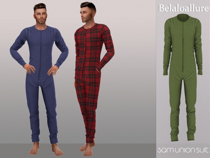 Sims 4 Sam union suit by Belaloallure at TSR