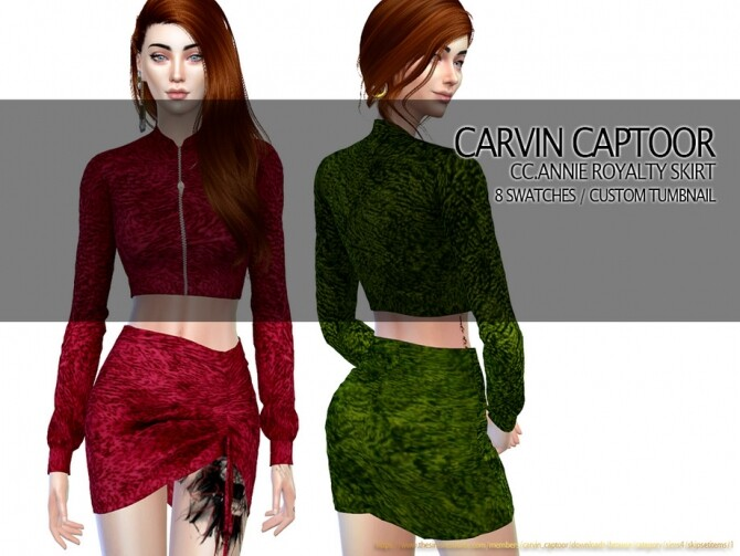 Sims 4 Annie Royalty Skirt by carvin captoor at TSR