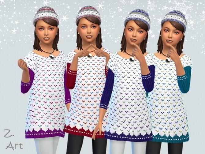 Sims 4 WinterkidZ 07 Dress by Zuckerschnute20 at TSR