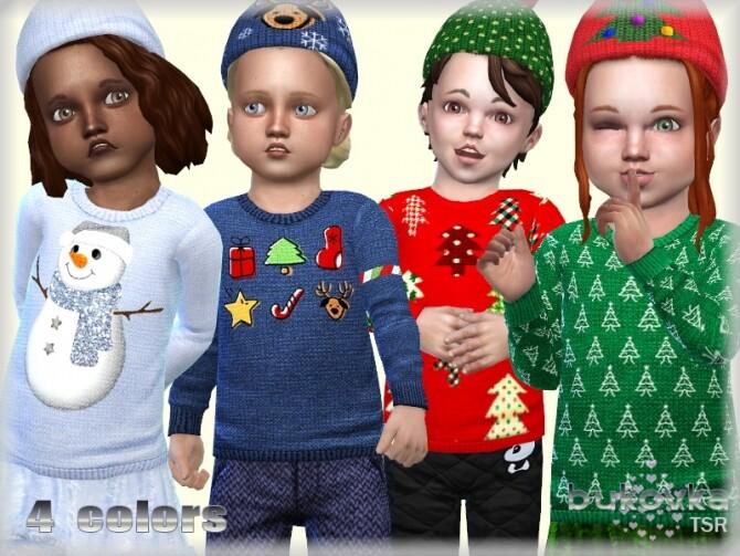Sims 4 Sweater Christmas by bukovka at TSR