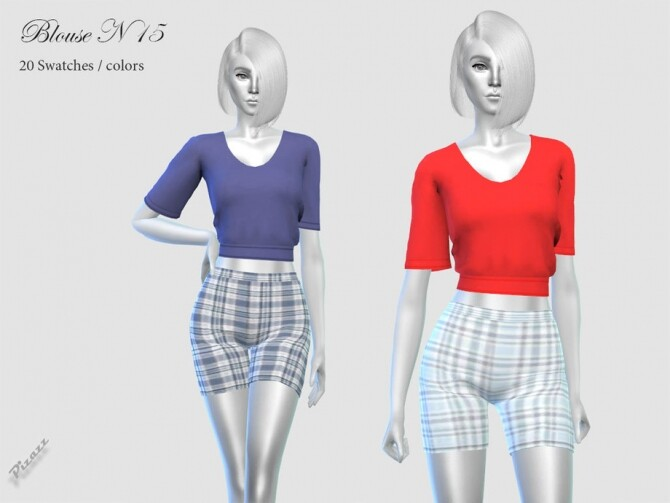 Sims 4 Ladies Blouse N 15 by pizazz at TSR