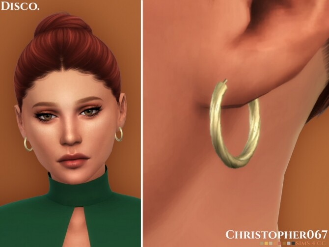 Sims 4 Disco Earrings by Christopher067 at TSR