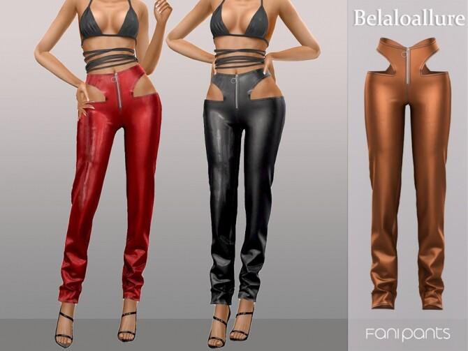 Sims 4 Belaloallure Fani pants by belal1997 at TSR