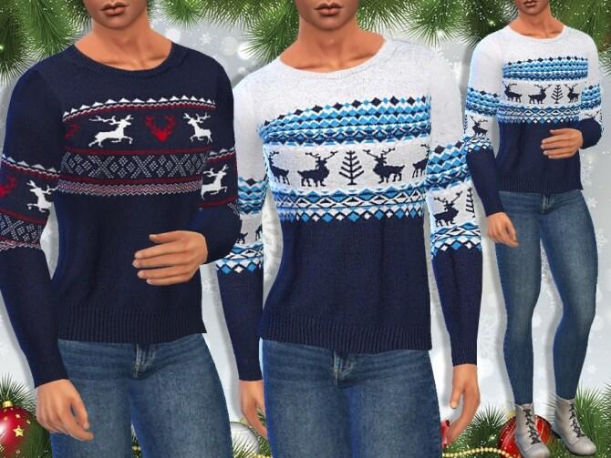 Sims 4 Xmas Pullovers M by Saliwa at TSR