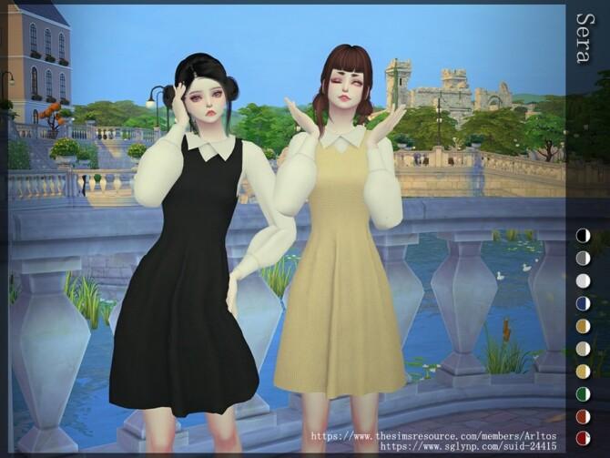Sims 4 Sera dress by Arltos at TSR