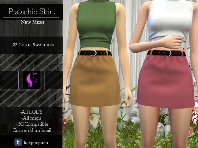 Sims 4 Pistachio Skirt by KaTPurpura at TSR