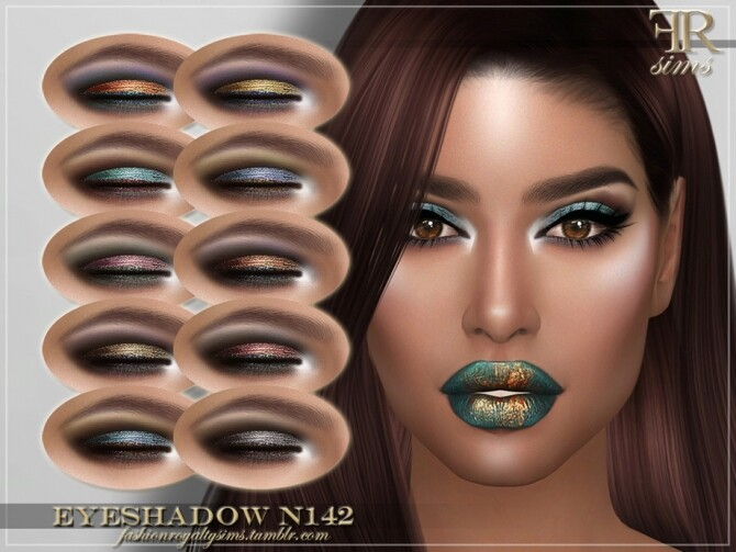 Sims 4 FRS Eyeshadow N142 by FashionRoyaltySims at TSR