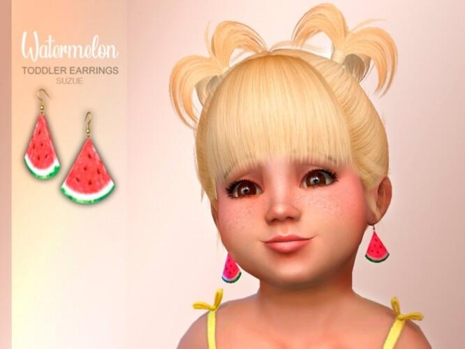 Watermelon Toddler Earrings by Suzue
