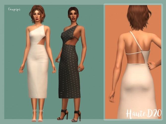 Sims 4 Dress DR376 by laupipi at TSR
