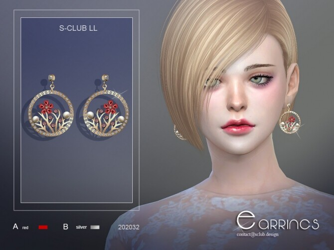 Sims 4 Earrings 202032 by S Club LL at TSR