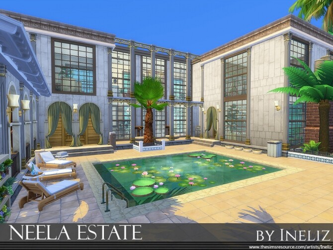 Sims 4 Neela Estate by Ineliz at TSR