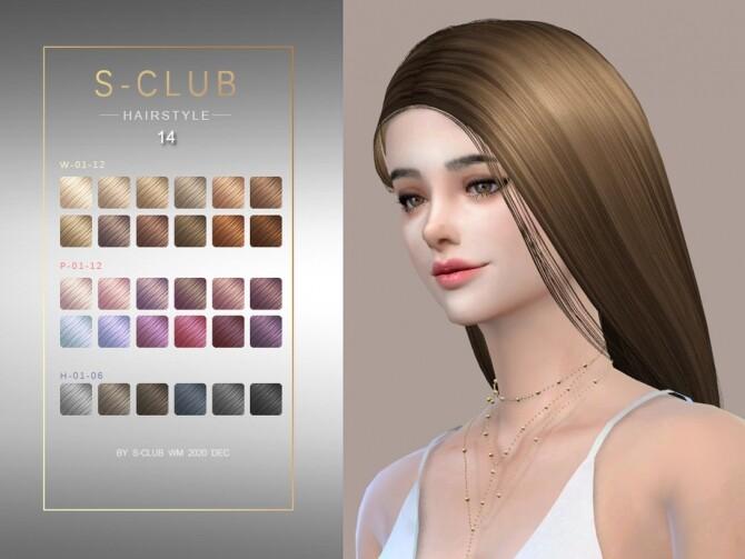 Sims 4 Hair 202014 by S Club WM at TSR