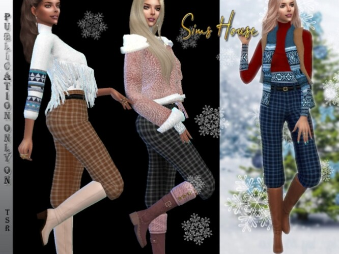 Pants under high boots by Sims House