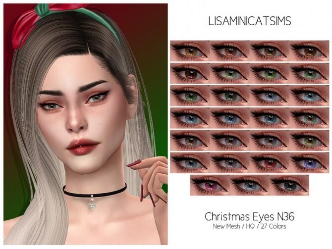 Sims 4 LMCS Christmas Eyes N36 HQ by Lisaminicatsims at TSR